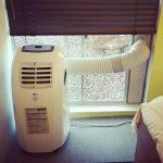 ventana y tubo del aire acondicionado portatil